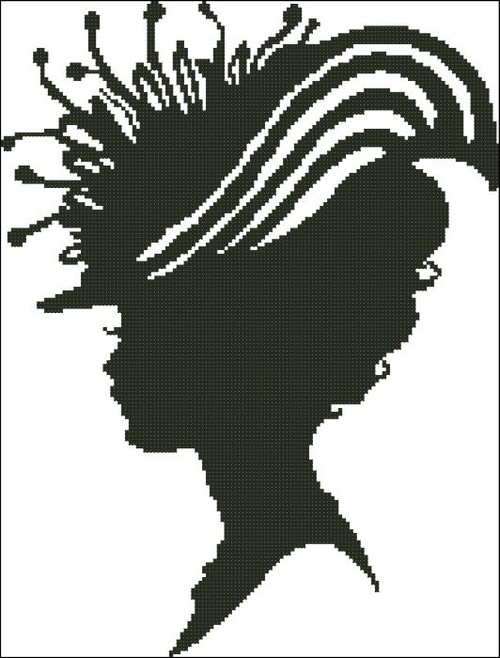 Ladies Hat Silhouette 009