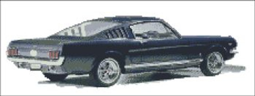 Mustang Blue Cross Stitch Pattern