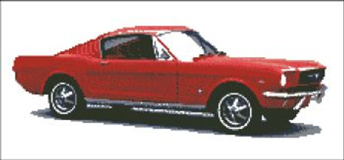 Mustang Red Cross Stitch Pattern