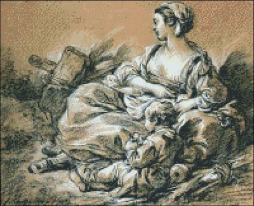 Mother and Child by Boucher