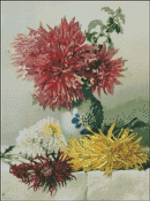 Chrysanthemums in a Vase