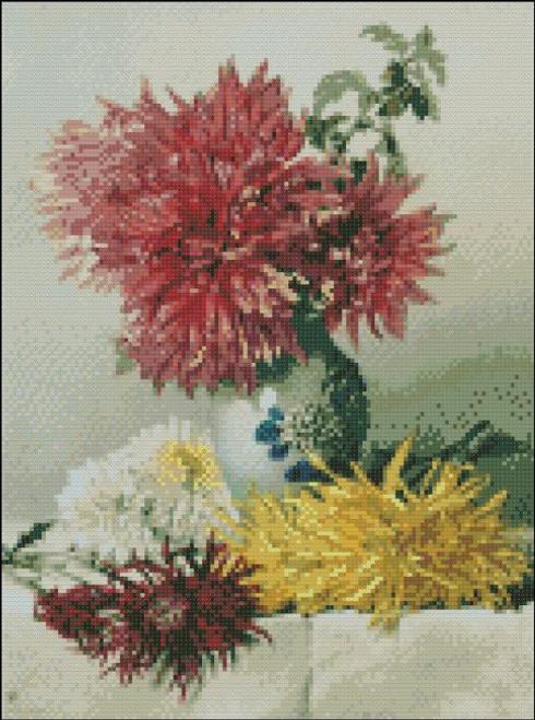 Chrysanthemums in a Vase