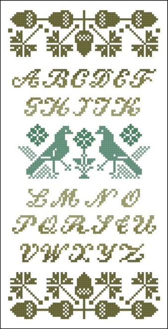Alphabet Sampler Acorns