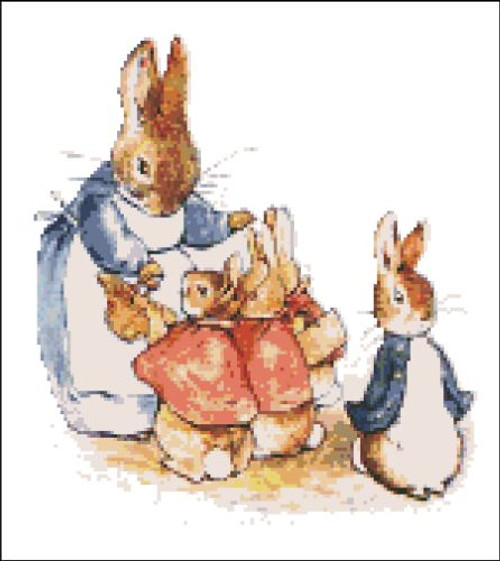 Mrs. Rabbit and Bunnies Peter Rabbit