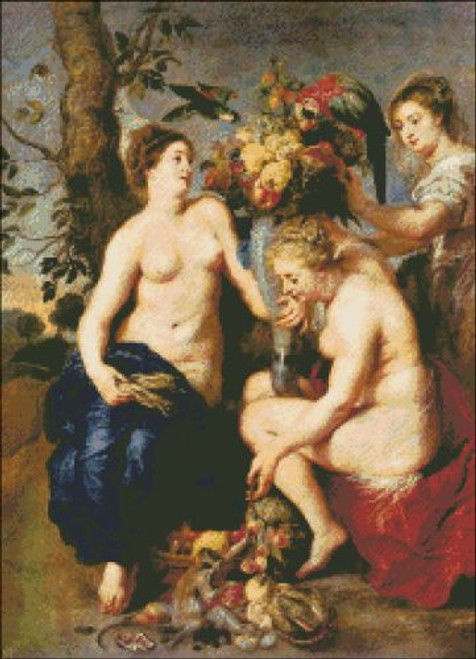 Ceres with Two Nymphs