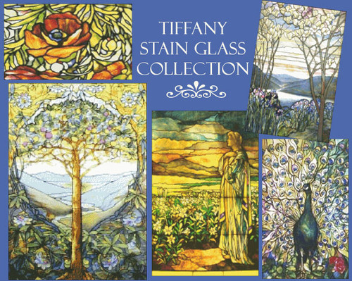 Tiffany Stained Glass Cross Stitch Collection