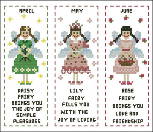 Flower Fairy Bookmark April to June