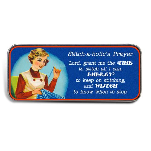 Magnetic Sewing Needle Case Stitch Club Stitchaholic Prayer Funny