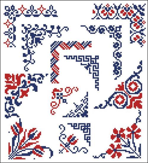 Border Motifs 009 Corners (Floral)