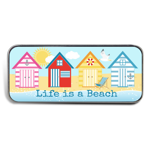 Magnetic Sewing Needle Case Quotes Life is a Beach