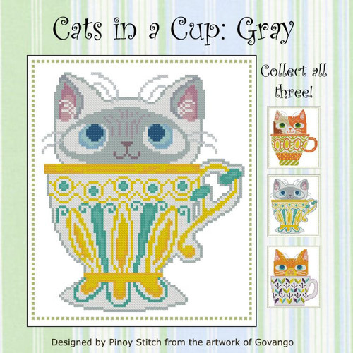 Cats in a Cup Gray