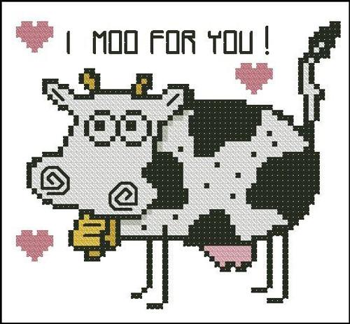 Cartoon Cow (I Moo for You)