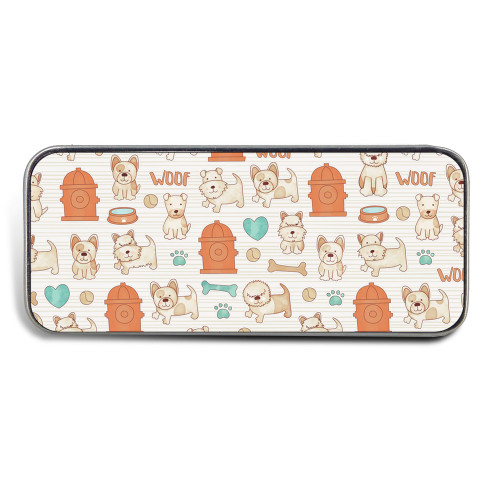 Magnetic Sewing Needle Case Animals Cute Dogs Beige