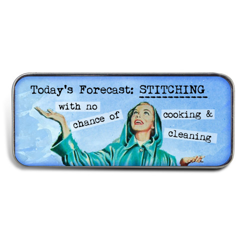 Magnetic Sewing Needle Case Retro Today's Forecast Stitching