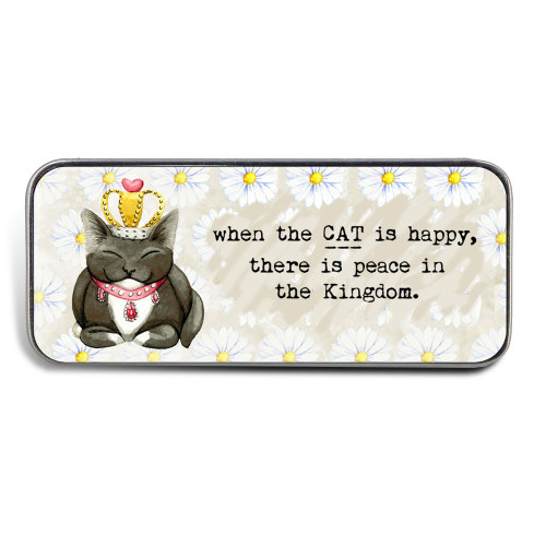 Magnetic Sewing Needle Case Animals When the Cat is Happy