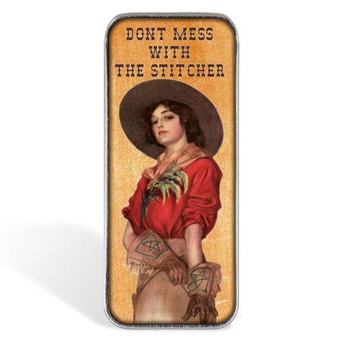 Magnetic Sewing Needle Case Quotes Case Don't Mess with the Stitcher
