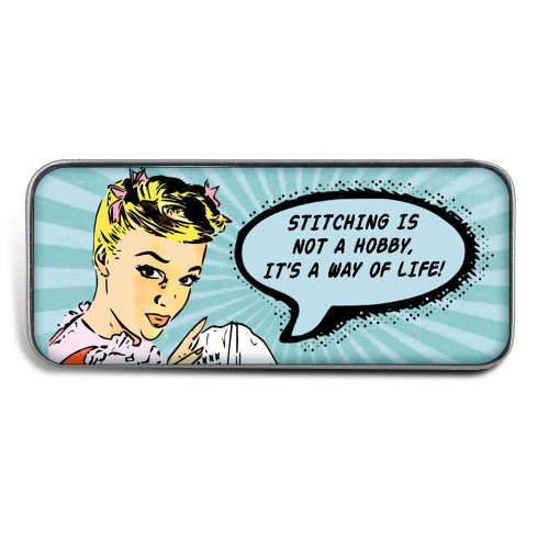 Magnetic Sewing Needle Case Pop Art Stitching is Not  a Hobby