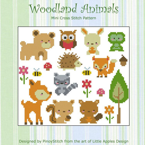 Woodland Animals Cross Stitch PDF Chart Cross Stitch Collection