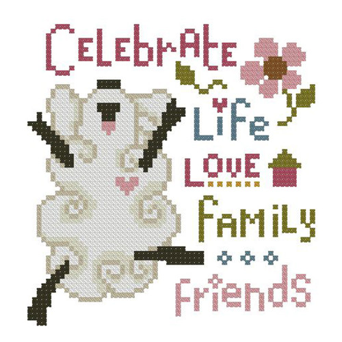 Celebrate Life Mini Cross Stitch Pattern