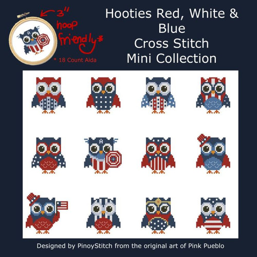 Hooties Red White and Blue Owls