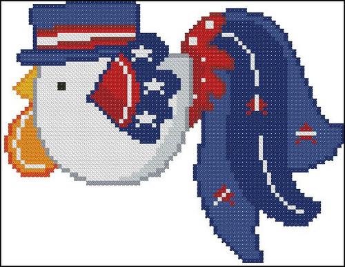 Patriotic Rooster 002