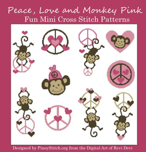 Peace Monkey Love Pink