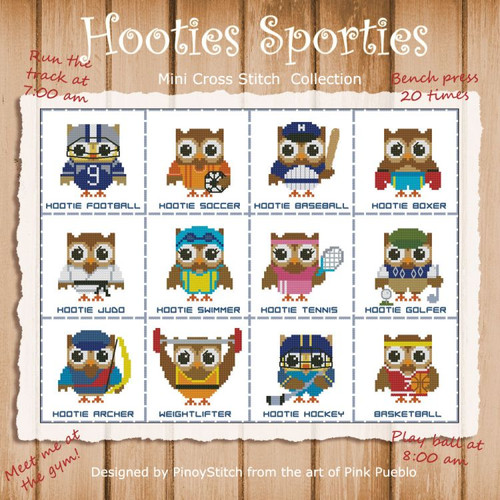 Hooties Sporties Mini Collection