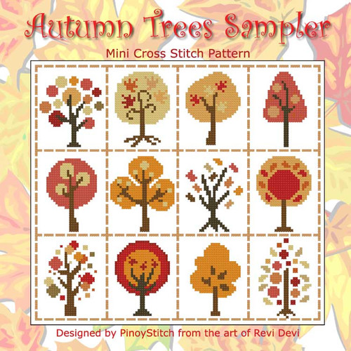 Autumn Trees Sampler