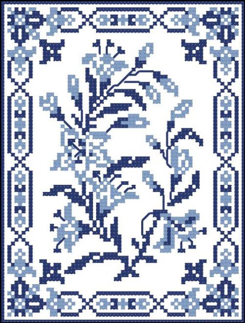 Vintage Blue Flower Bunch