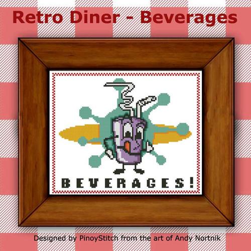 Retro Diner Food - Beverages