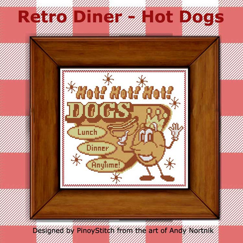 Retro Diner Food - Hot Dog