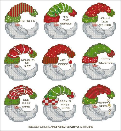 Santa Ornaments Minis (Customizable)