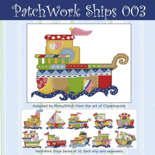 Patchwork Ships 003