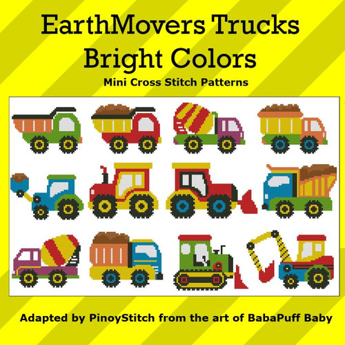 EarthMovers Trucks Bright Colors