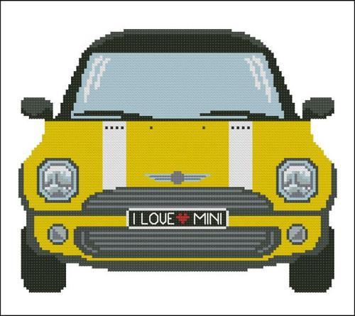 Mini Sports Car Yellow
