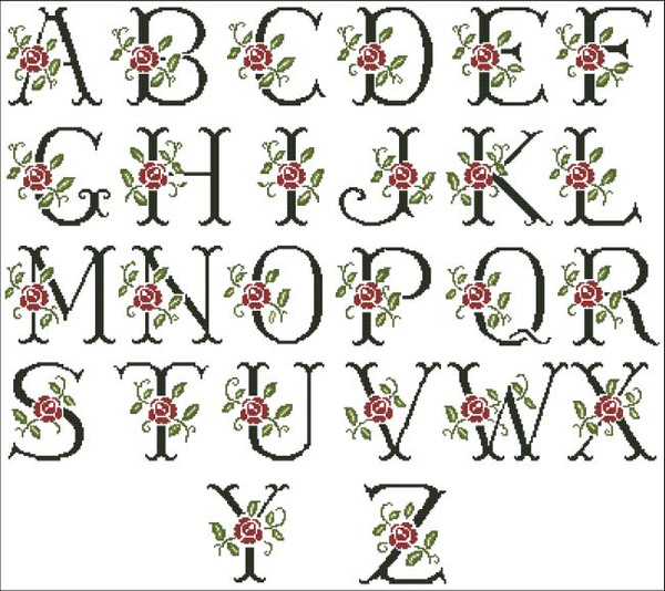 Alphabet Roses