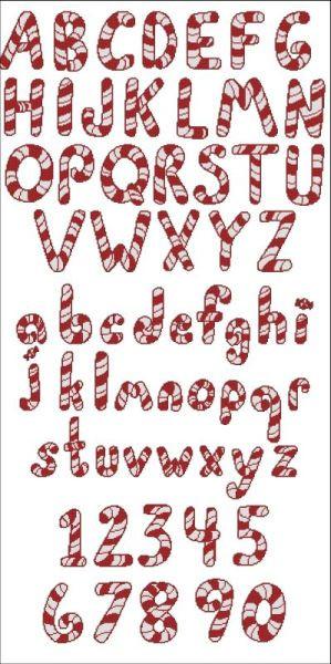 Peppermint Canes Alphabet