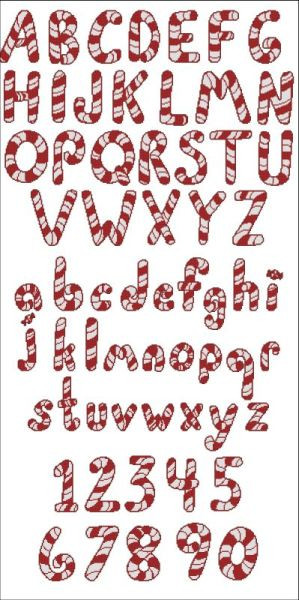 Peppermint Canes Alphabet