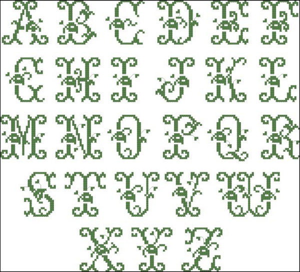 Vintage Alphabet 1081