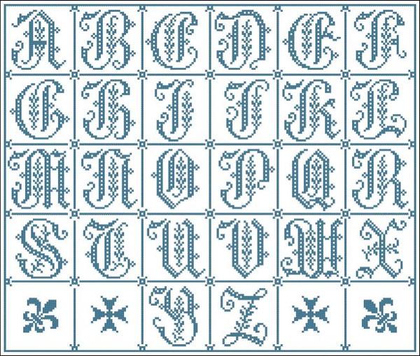 Vintage Alphabet Gothic 6514