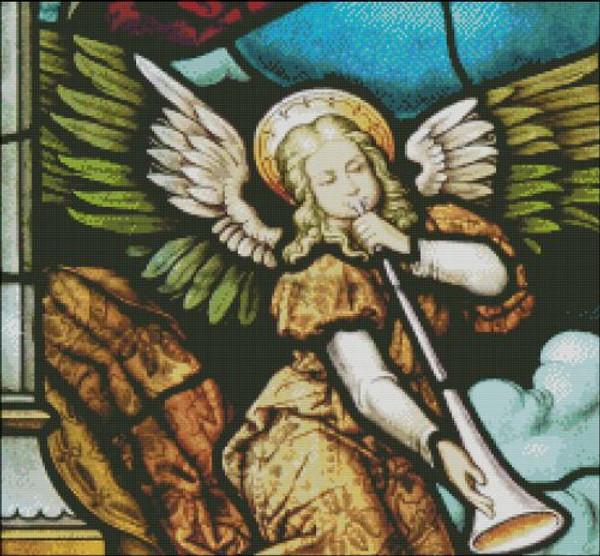 Church Window: Angel with Horn