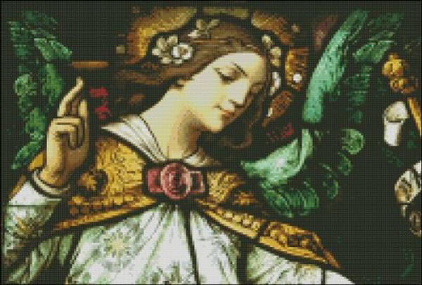 Church Window: Annunciation Angel