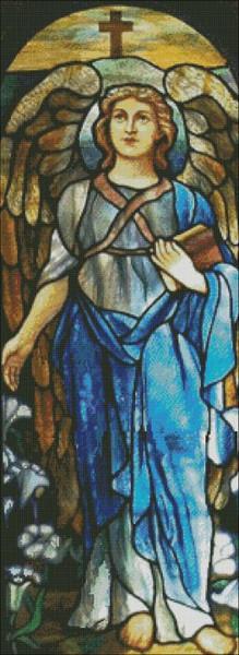 Church Window: Blue Angel