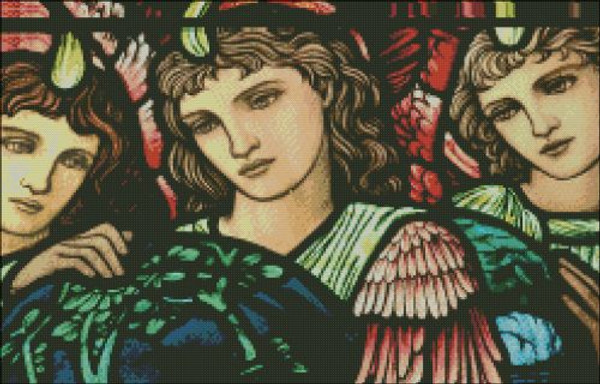 Church Window: Creation Angel Detail