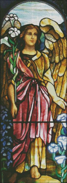 Church Window: Pink Angel