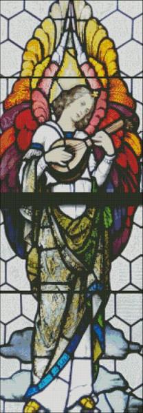 Church Window: St. Mary Angel Left