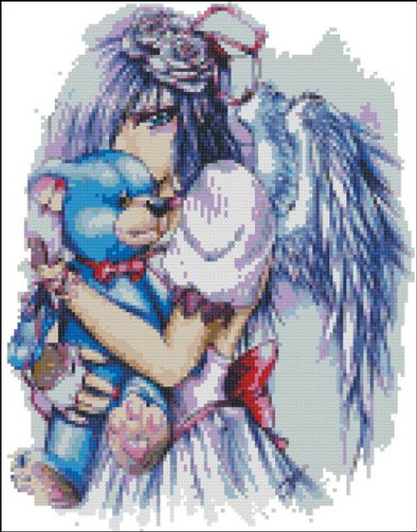 Angel with Teddy