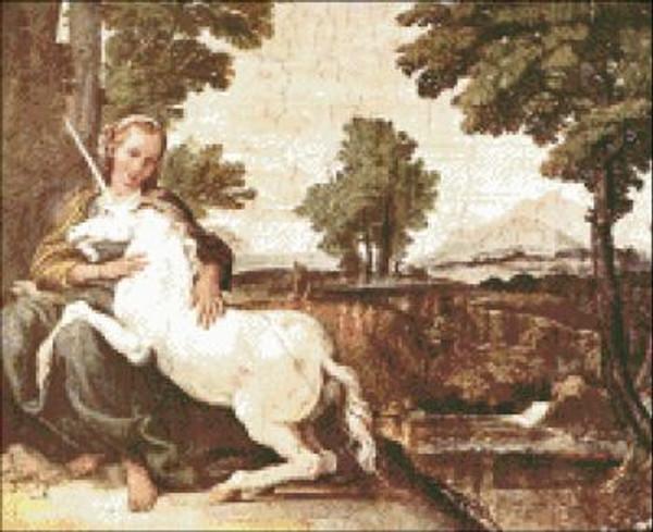 Virgin with a Unicorn