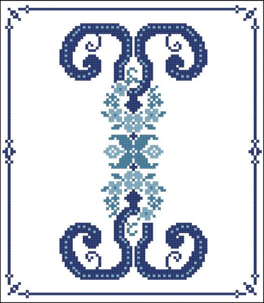 Decorative Blue Alphabet I