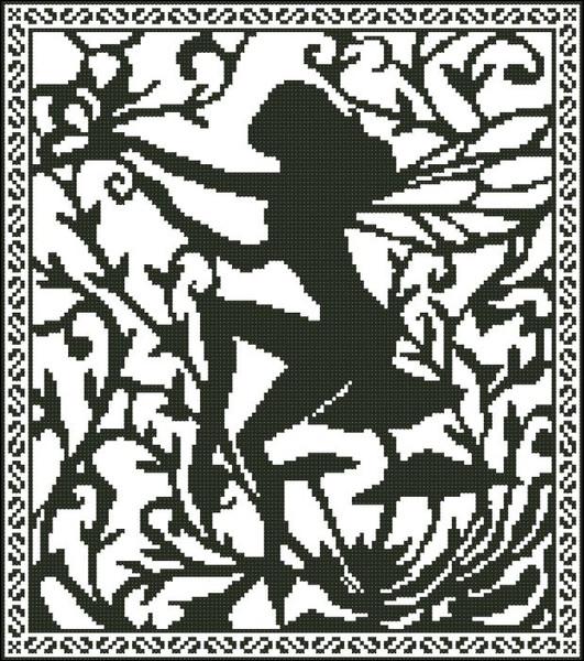 Fairy Silhouette Fantasy 002